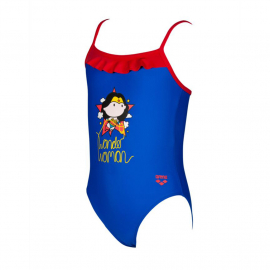 Arena Wonder Woman Rouche Kids Girl Kids' Swimsuit, Size: 1Y, image