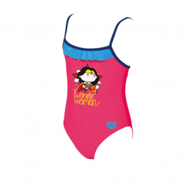 Arena Wonder Woman Rouche Kids Girl Kids' Swimsuit, Size: 2Y, image