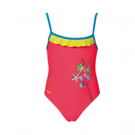 Arena Water Tribe Rouche Girl's One Piece, Size: 1Y, image